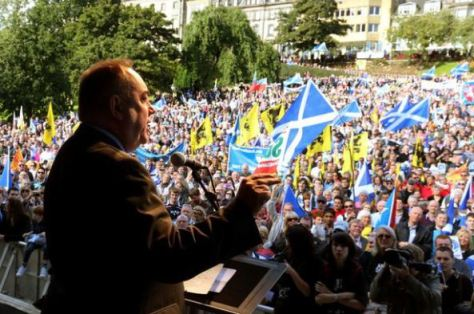 Alex+Salmond+at+independence+rally
