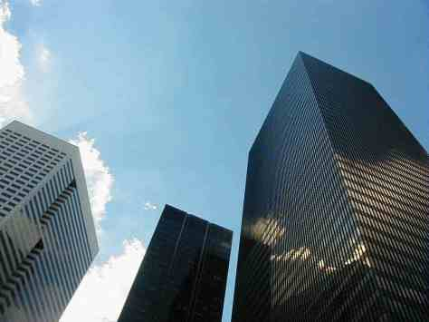 Downtown Houston . Photograph taken and copyrighted  by Barbara Mattio 2000