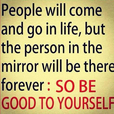 People come and go in life. Take care of yourself.