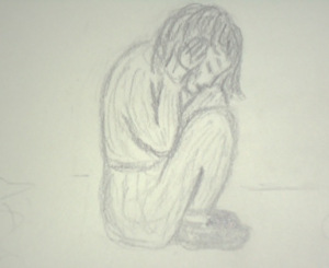 crouching child