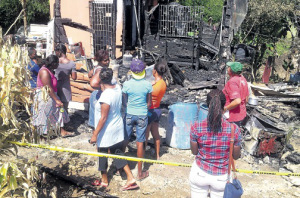Three children died in this house fire in Negril, Westmoreland last Friday. (Photo: Phillip Lemonte)