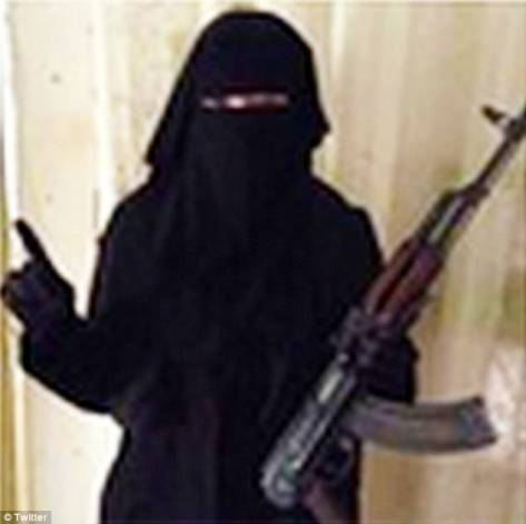 A British mother-of-two who once fronted an all-girl rock band is believed to have made it to Syria where she is threatening to behead Christians with a blunt knife. Investigations have revealed the real name of a Muslim convert who calls herself Umm Hussain al-Britani may be Sally Jones, from Chatham in Kent.