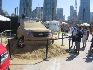 The fun event on the B Street Pier was sponsored in part by Chevrolet.