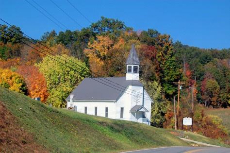 Church in Blue Ridge Parkway. Photographed and copyrighted by Barbara Mattio 2012