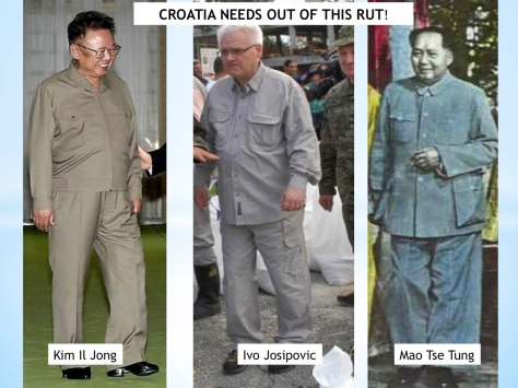 Croatia's president Ivo Josipovic Does he think, not only dress as Mao Tse Tung or Kim Il Jong?
