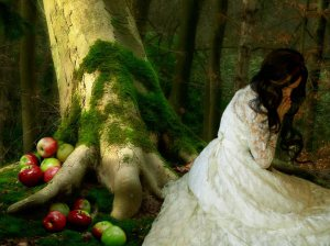 Under the Apple Tree, by Merilyn Saralonde, DeviantArt (see link in image credit line).