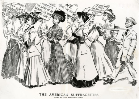 The Suffragettes earned us the right to vote.
