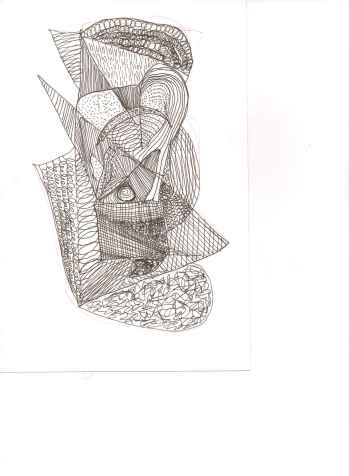 Zentangle by Barbara Mattio. Copyrighted 2014