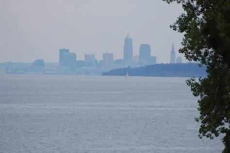 Cleveland skyline from Huntington Beach.