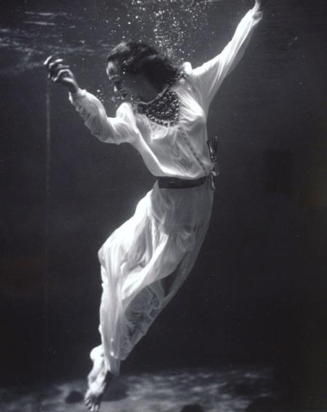 lady underwater