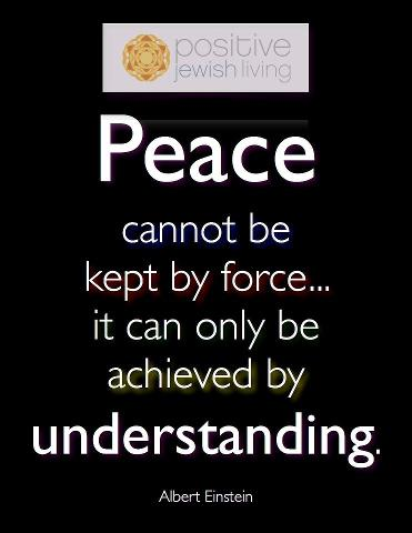 Achieve peace with understanding.