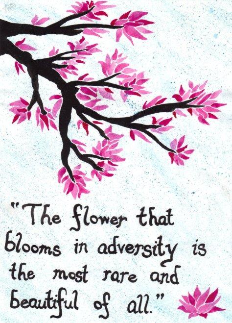 the flower...