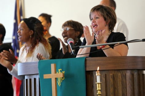 Pastor Renita Lamkin, Rabbi Susan Talve, Rev. Jennifer Bailey and many other women of faith offered countless hours and resources to the #BlackLivesMatter movement, working to promote equality, justice and an end to police brutality. These religious women continue to stand in solidarity with the powerful, self-identified queer black women who founded the #blacklivesmatter movement.
