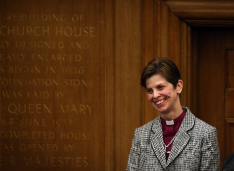 "Reverend Libby Lane was consecrated as the Bishop of Stockport, and the Church of England's first female bishop, in January 2015. ""I am very conscious of all those who have gone before me, women and men, who for decades have looked forward to this moment,"" Lane said at a December press conference. ""But most of all I am thankful to God."""