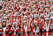 Elves or children as Santa