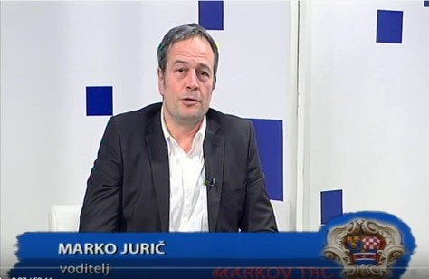 "Marko Juric Host: Z1TV ""Mark's Square"" Program Photo: Screenshot Z1 TV Croatia January 2016"