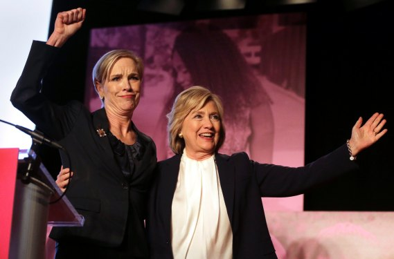 Hilary Clinton gives her support to woman and Planned Parenthood.