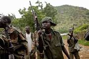 Soldiers fighting in the South Sudan war