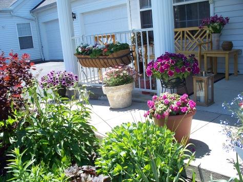 Front Porch and Garden Avon OH Photograph and Copyright Barbara Mattio 2009