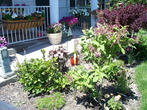 Front porch and garden Avon OH Photograph and Copyright Barbara Mattio 2009