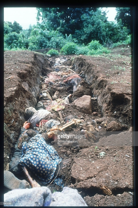 Rowanda Mass Grave. So many Tutsies are murdered they can't be bothered burying each one.
