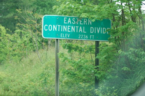 The Eastern Continental Divide. Photograph and copyright by Barbara Mattio, 2016