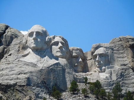 Four of our Presidents carved into the mountainside.