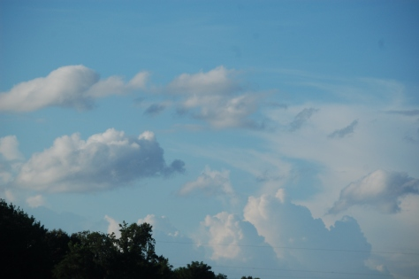 I love watching the clouds float across the blue skies. Photograph and copyright by Barbara Mattio 2016