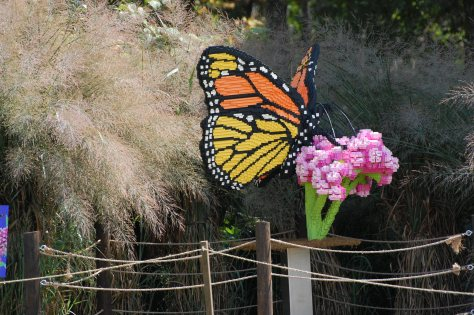 Lego Monarch Butterfly on Flower