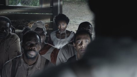 "Colman Domingo as ""Hark"" and Aja Naomi King as ""Cherry"" in THE BIRTH OF A NATION. Photo courtesy of Fox Searchlight Pictures. © 2016 Twentieth Century Fox Film Corporation All Rights Reserved"