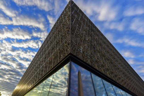 The Smithsonian Institute's National Museum of African American History and Culture, NMAAHC, sits near the Washington Monument on Tuesday, August 9. The Museum would open to the public on September 24 in a ceremony attended by President Obama and many other dignitaries. Getty