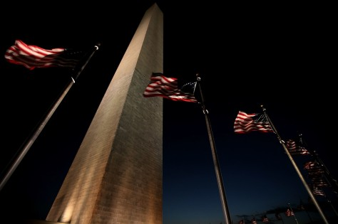 The Washington Monument stands at the National Mall on December 02. The National Park Service announced that day that the monument will remain closed until 2019 for updating the elevator system in the structure. Getty